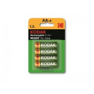 Kodak esiladattu, käyttövalmis Ni-MH AA -akku 2100mAh. 4kpl