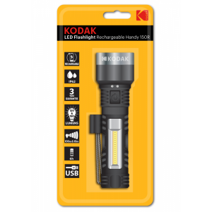 Kodak LED flashlight Handy 150, rechargeable