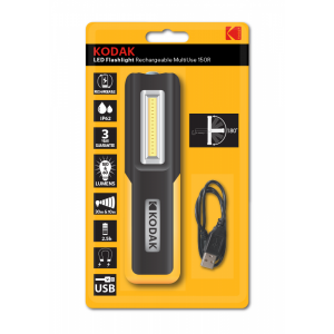 Kodak LED flashlight MultiUse 150, USB rechargeable
