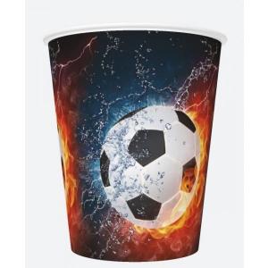 Бумажные стаканчики 250мл, 8 шт, Футбол