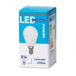 LED lamppu P45, E14 470lm