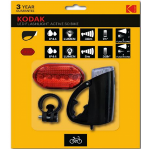Комплект светодиодных велосипедных фонарей Kodak, 2шт.