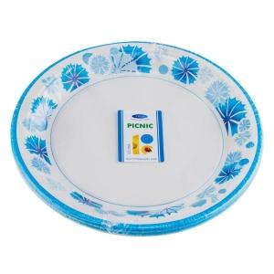Smile Бумажные тарелки, василек, 18 см, 12 шт