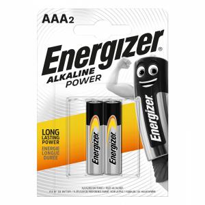 Energizer AAA (LR03) Power alk.battery, 2 pcs/bl