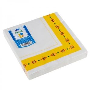Smile Салфетки 3-слойные 33x33см, 20шт, желтый