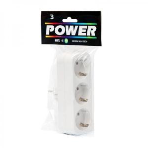 Power Розетка с 3 гнездами, белая