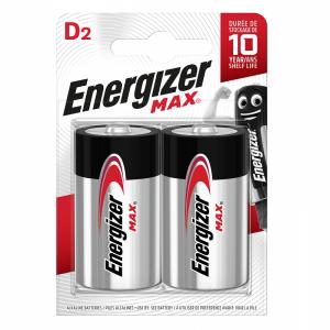 Energizer, D (LR20) Max, alkaliparisto, 2kpl