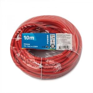 Power, Jatkojohto 10m, 1,5mm, punainen