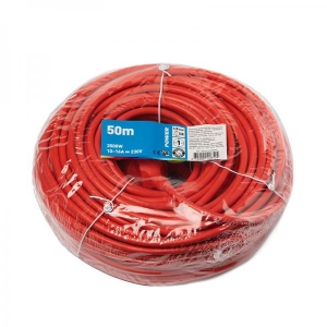 Power, Jatkojohto 50m, 1,5mm, punainen