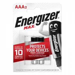Energizer AAA (LR03) Max alk.battery, 2 pcs/bl