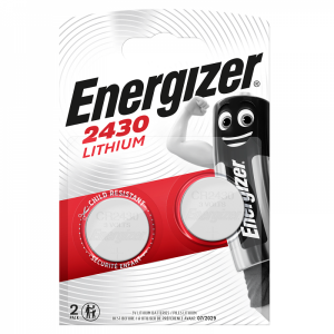 Energizer CR2430 lithium battery, 3,0V 2pcs