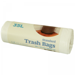 McLean White plastic garbage bags HD 35 litres, 30 pcs/roll