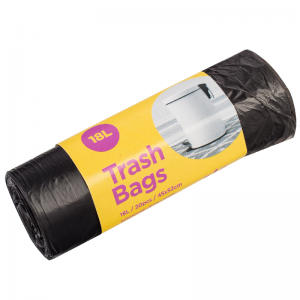 McLean Plastic garbage bags (black) HD 18l, 20 pcs/roll