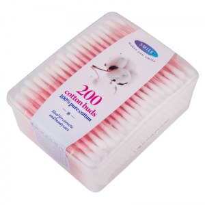 Smile cotton buds in box, 200 pcs