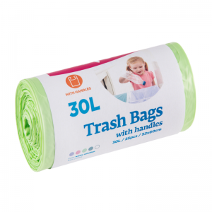 McLean trash bags with handles, 30l, 25pcs, green