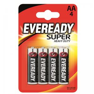 Eveready Super Heavy Duty AA (R6) battery, 4 pcs/bl