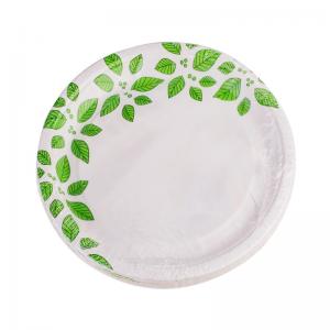 Smile Paper plates 18cm, 12 pcs, Leaves