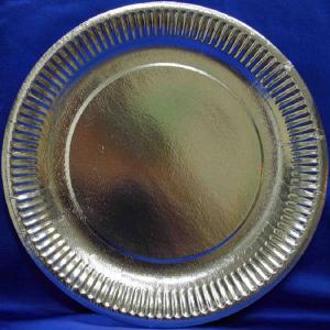 Smile Paper plates 23cm, 10 pcs, Silver