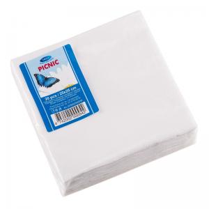 Smile Napkins 25x25cm 3-ply, 20pcs, White