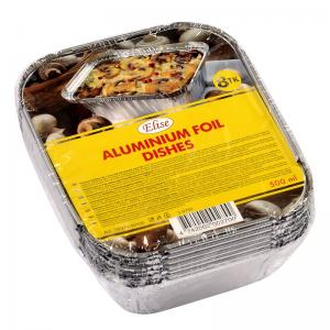 Elise aluminium foil dishes 0,5 L, 8 pcs