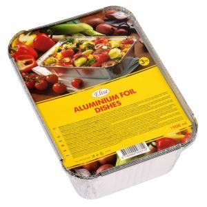 Elise aluminium foil dishes 1,9 L, 3 pcs