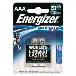 Energizer L92 AAA Ultimate lithium battery, 2 pcs/bl
