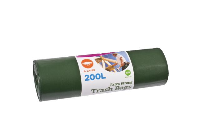 McLean-Prof. Особо прочный строительный мусорный мешок Extra 200л, 5шт/рулон