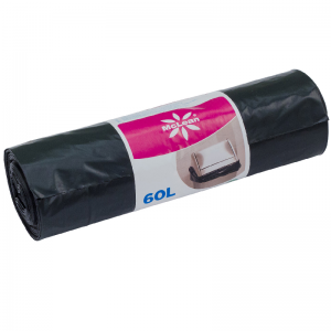 McLean Plastic garbage bags LD 60 litres, 600x850, 15 pcs/roll