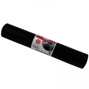 McLean Plastic garbage bags with handles LD 150 litres, 760x1250, 8 pcs/roll