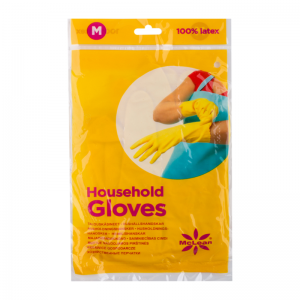 McLean-Home Резиновые перчатки, мягкая хлопчатобумажная подкладка , 1шт, М
