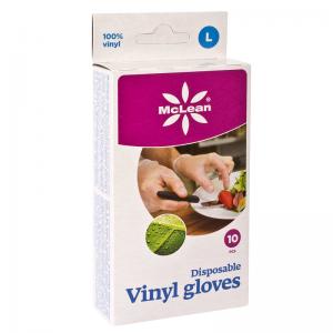 McLean Disposable  Vinyl gloves 10 pcs, L