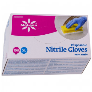 McLean Professional Disposable Nitrile gloves 100 pcs, XL