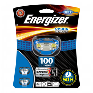 Energizer pealamp Vision koos 3xAAA patareidega