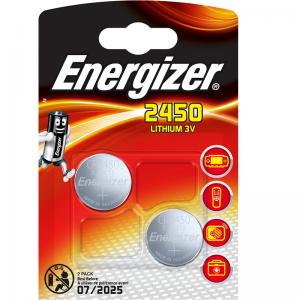 Energizer CR2450 lithium battery, 3,0V 2 pcs/bl