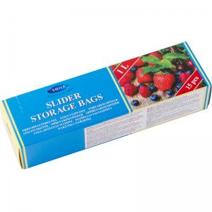 Smile Пластиковые пакеты с застежкой 1л, 20,3x17,7 см, 15 шт