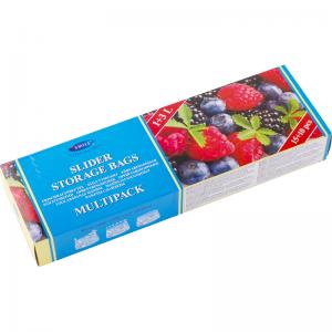 Smile Пластиковые пакеты с застежкой 1л&3л, 15+10 шт