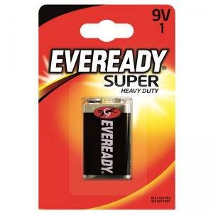Eveready Super Heavy Duty, 6F22 (9V) paristo, 1kpl