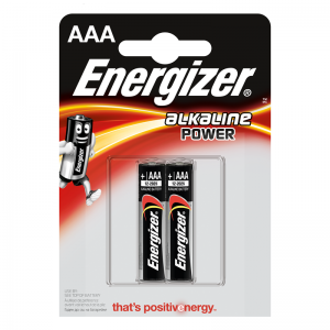 Energizer AAA (LR03) Power alk.battery, 2 pcs/bl