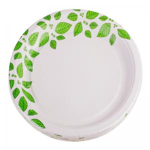 Smile Paper plates 22cm, 12 pcs, Leaves
