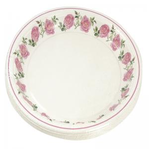 Smile Бумажные тарелки, роза, 22 см, 12 шт