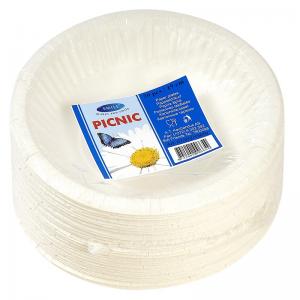 Smile Deep paper plates 19cm, 50 pcs