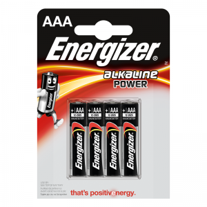 Energizer AAA (LR03) alk.battery 4 pcs/bl