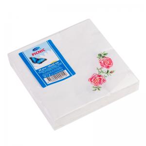 Smile Салфетки 2-слойные 25x25см, 20шт, роза
