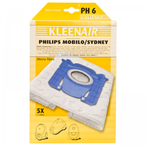 Kleenair, Philips Sidney, 51603 pölypussi, 5 kpl. PH 6