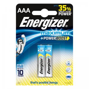 Energizer Щелочная батарейка AAA (LR03) Maximum 2 шт/уп