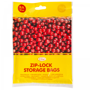 Elise Zip-lock storage bags 0,5L, 25pcs