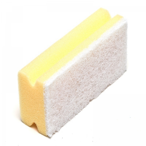 McLean-Prof. Scouring sponge 15 cm with white abrasive, 1 pcs