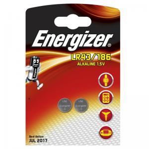 Energizer, LR43/186, 1,5V, alkaliparisto, 2kpl