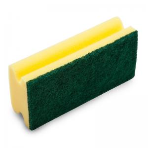 McLean-Prof. Scouring sponge 15 cm with green abrasive, 1 pcs
