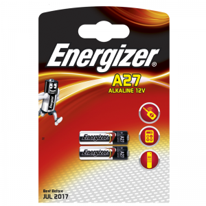 Energizer alkaline A27 battery, 2pcs/bl
